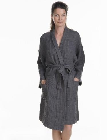 Capri waffle robe 100% linen