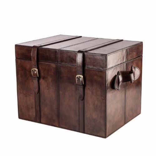 Oxford trunk - en stor kista i läder från Balmuir