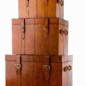 Oxford Trunk – Kista Helt I Läder, M 3