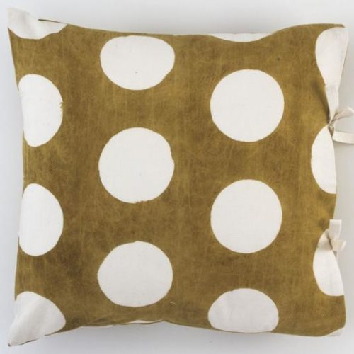 Liten Dekorativ kudd - Reverse Dot Gold LI