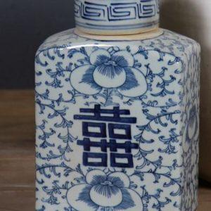 Vacker Tedosa I Kinesiskt Blåvitt