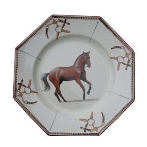 Dinner Plate För Dig Som älskar Hästar