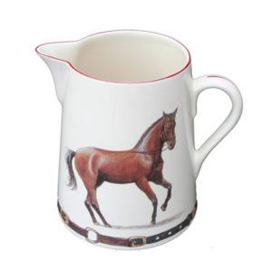 Kanna Med Elegant Häst Som Motiv